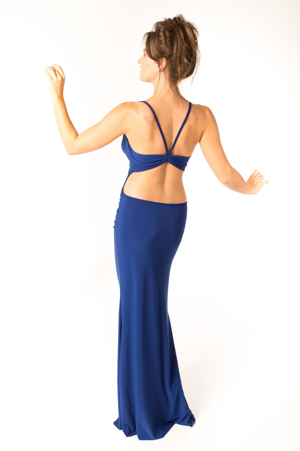 Dress L025 Blue Rear