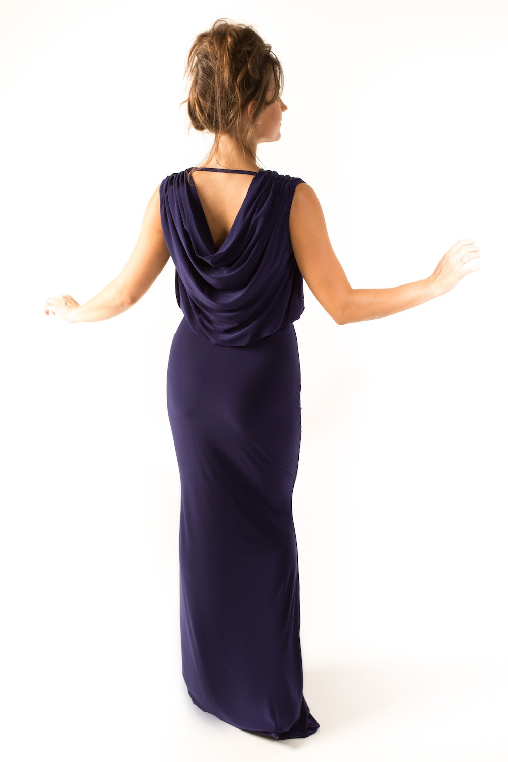 Dress L094 Navy Rear