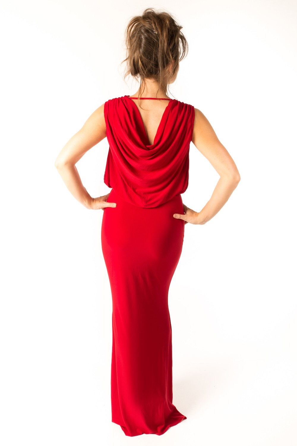 Dress L094 Red Rear