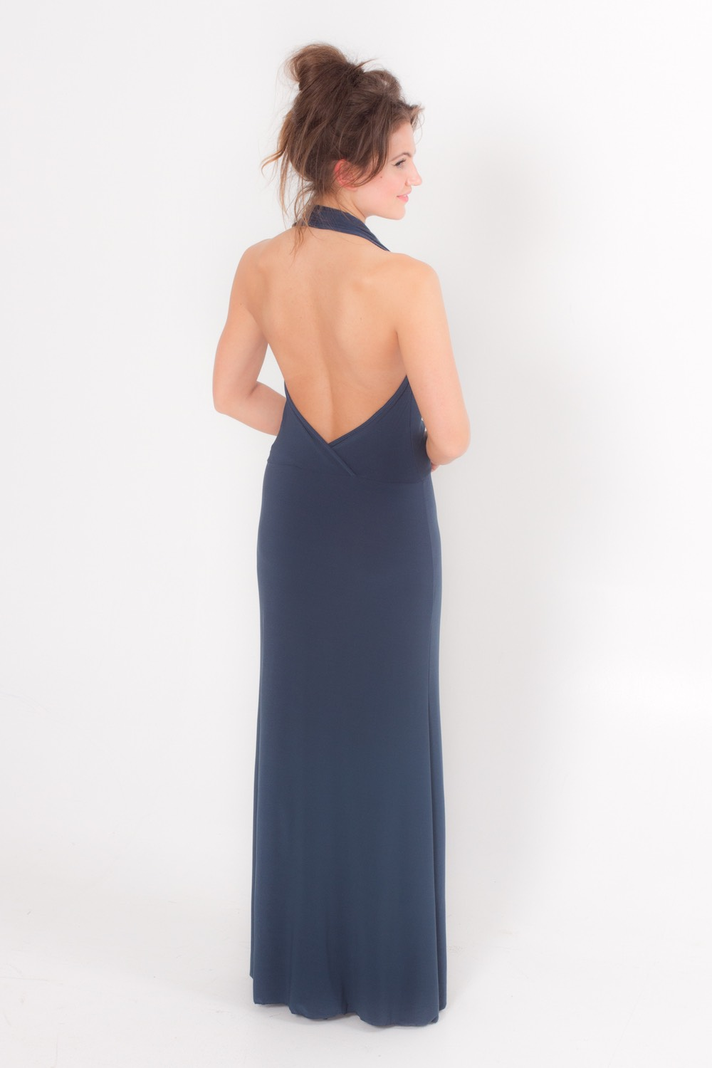 Dress L100 Blue Grey Rear
