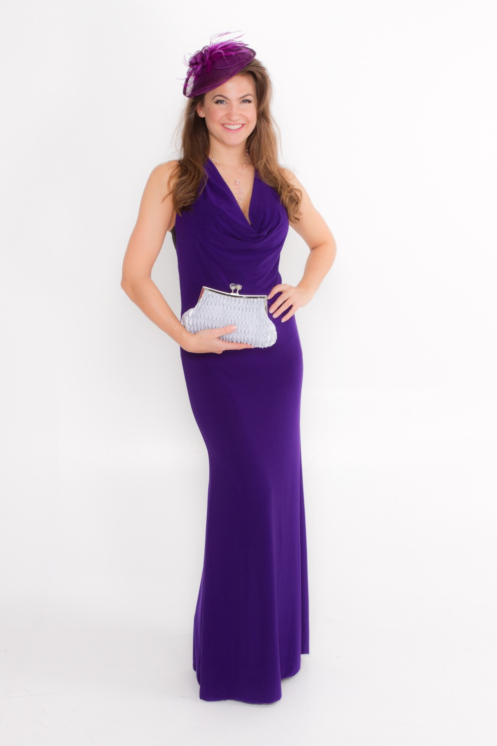 Dress L100 Purple Front