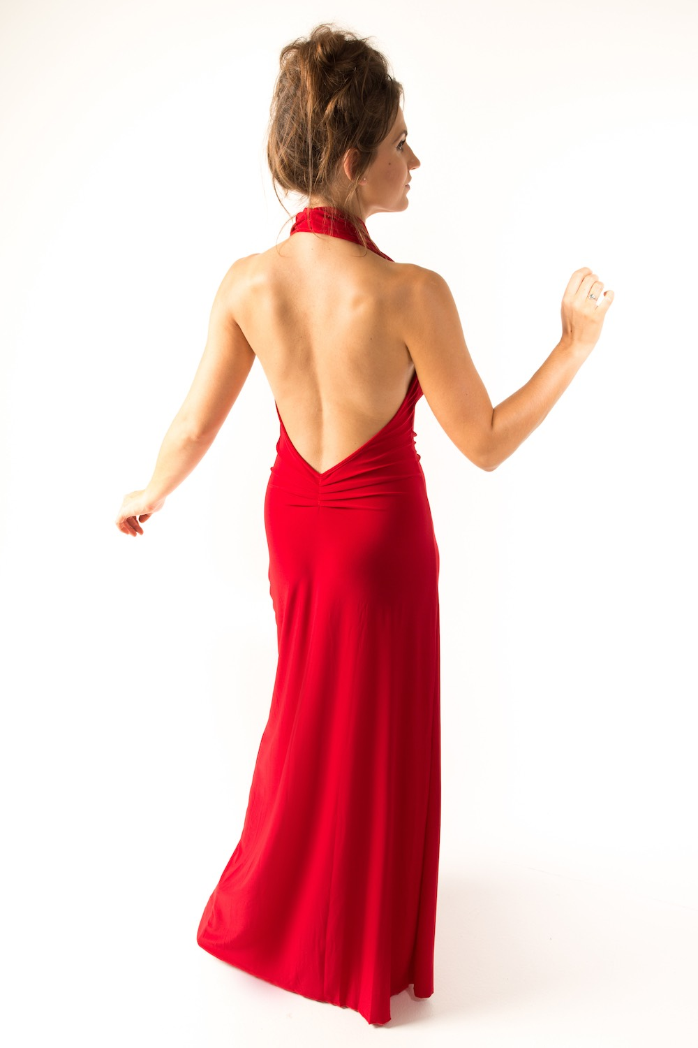 Dress L100 Red Rear