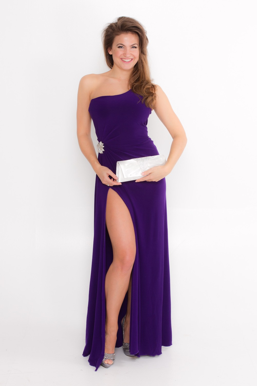 Dress L135C Purple Front