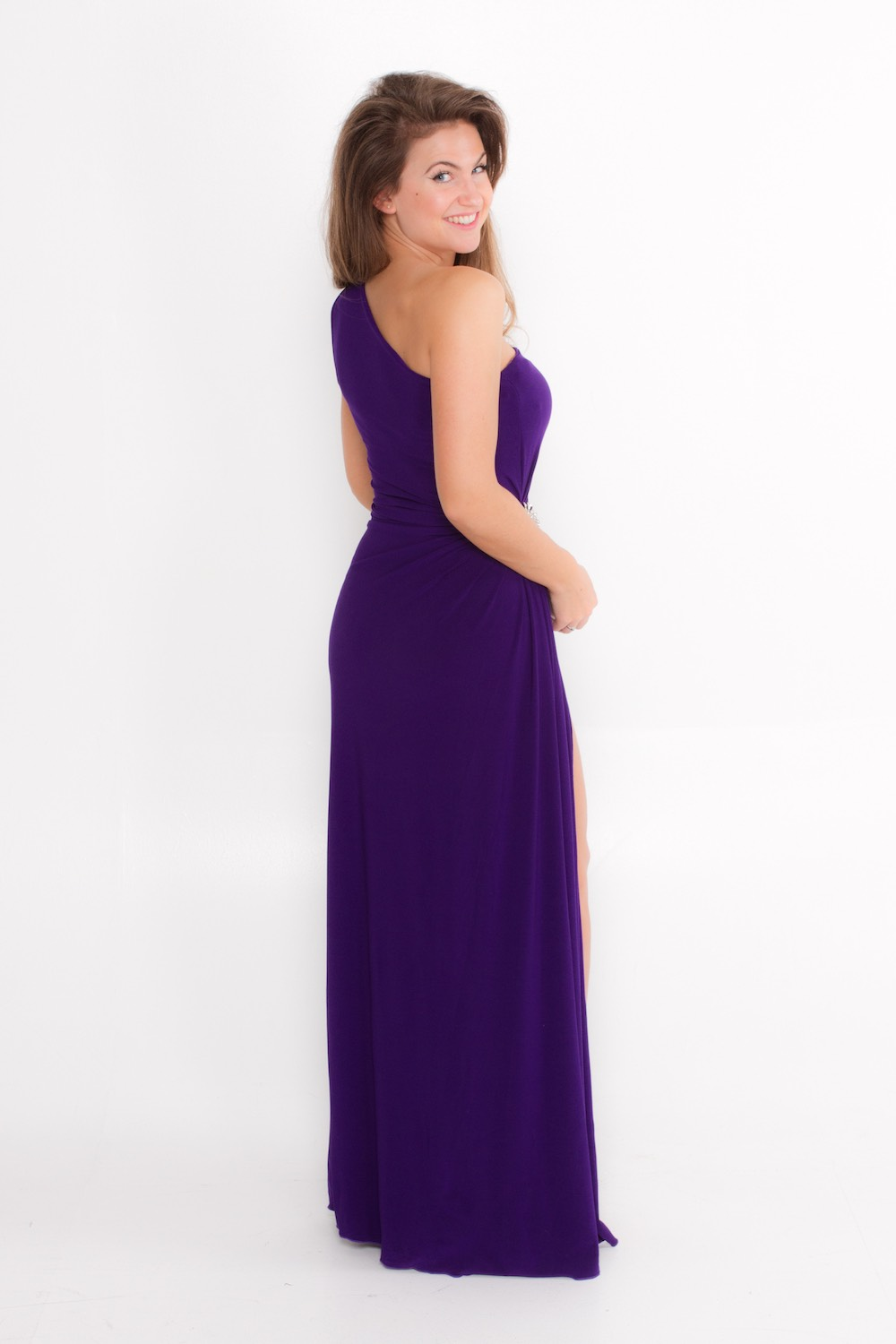 Dress L135C Purple Rear