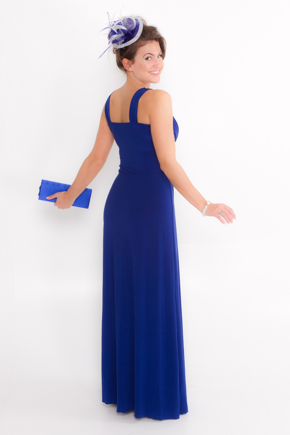Dress L146 Blue Rear