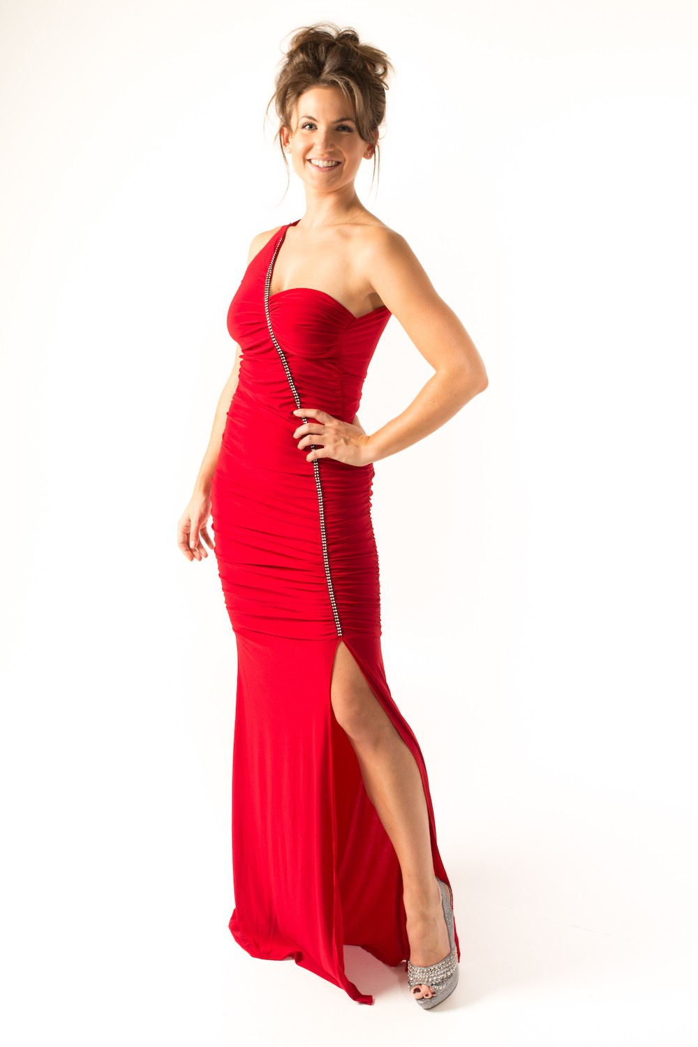Dress L148 Red Front