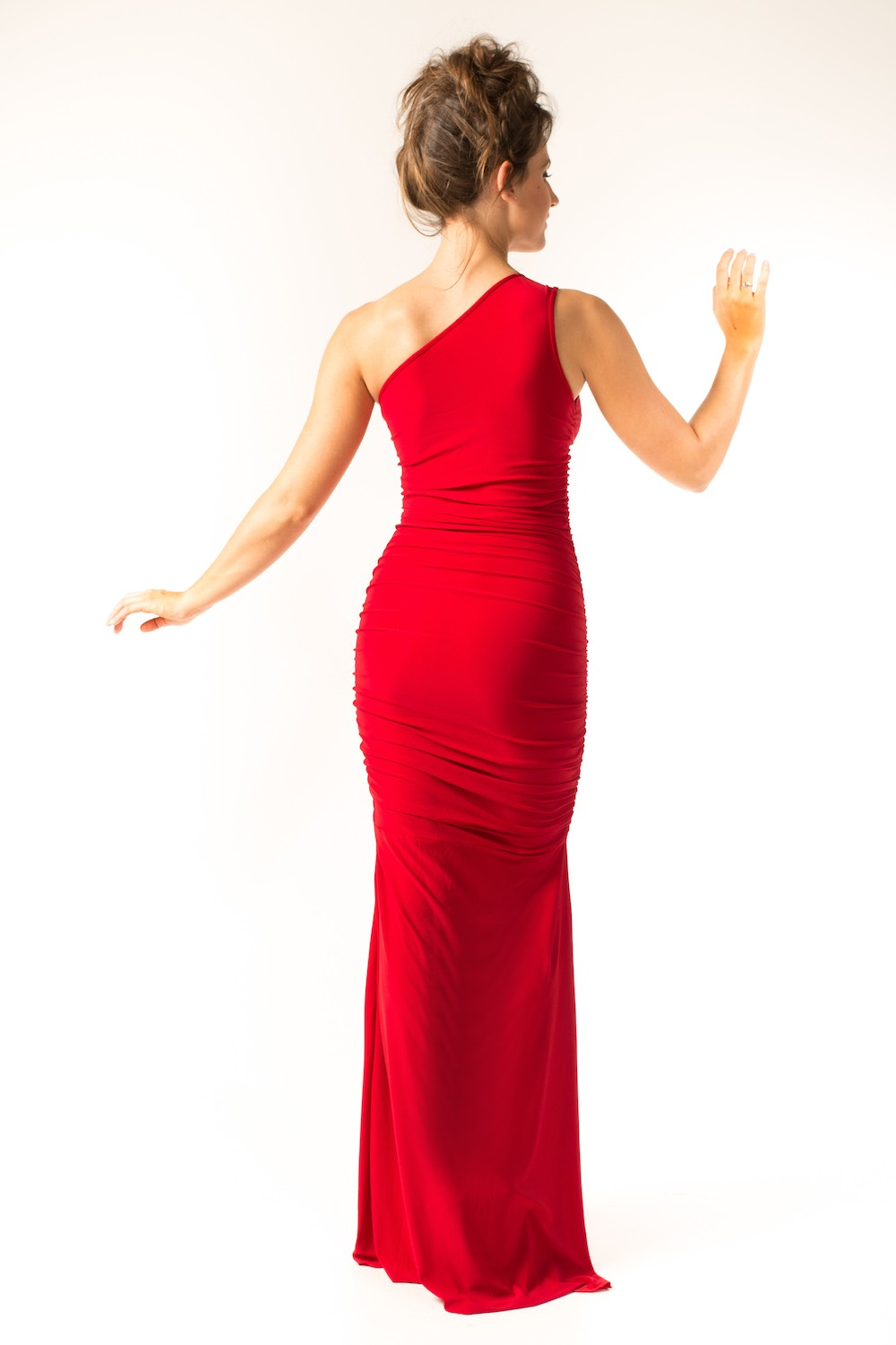 Dress L148 Red Rear