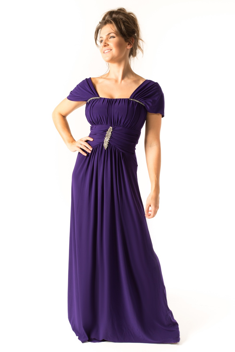 Dress L154 Purple Front