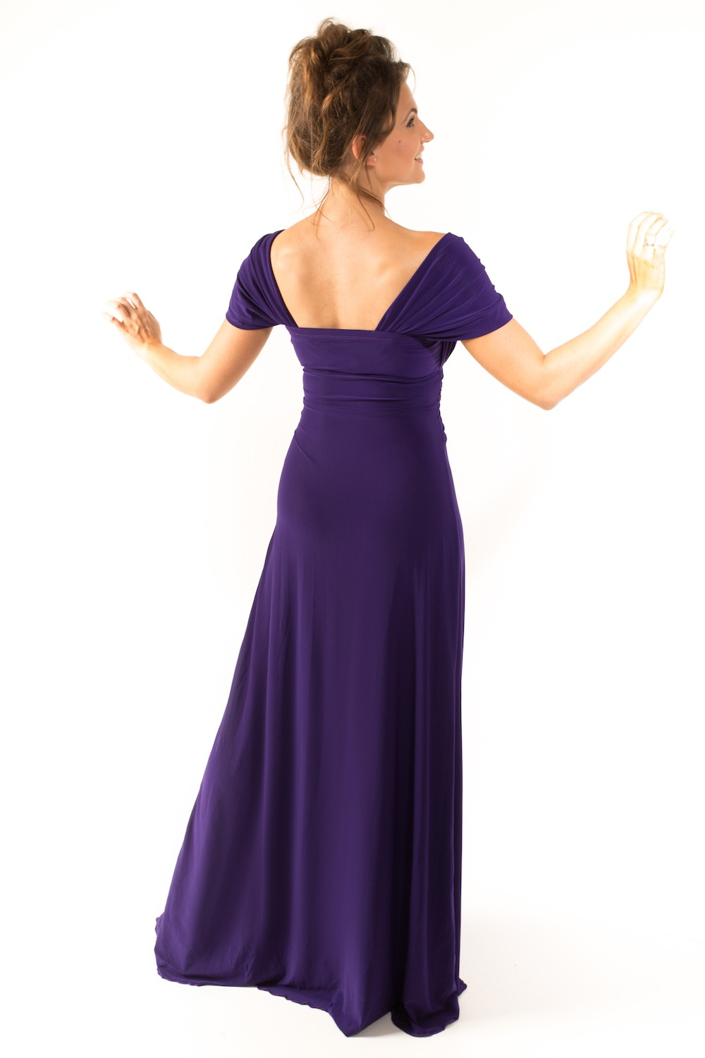 Dress L154 Purple Rear