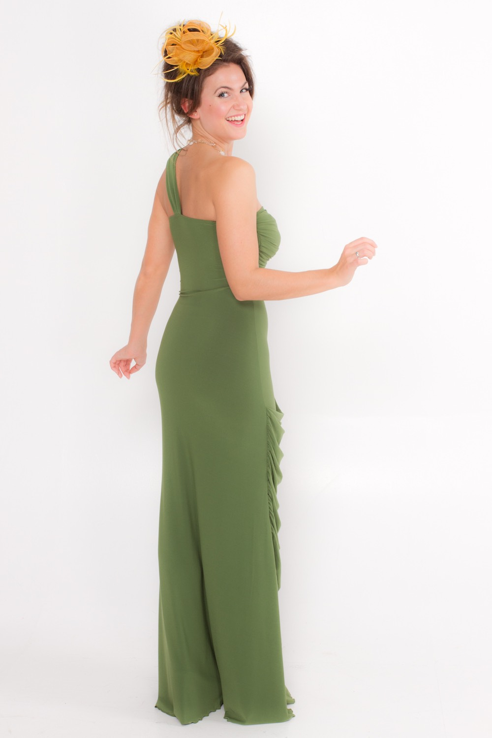 Dress L162 Green Rear