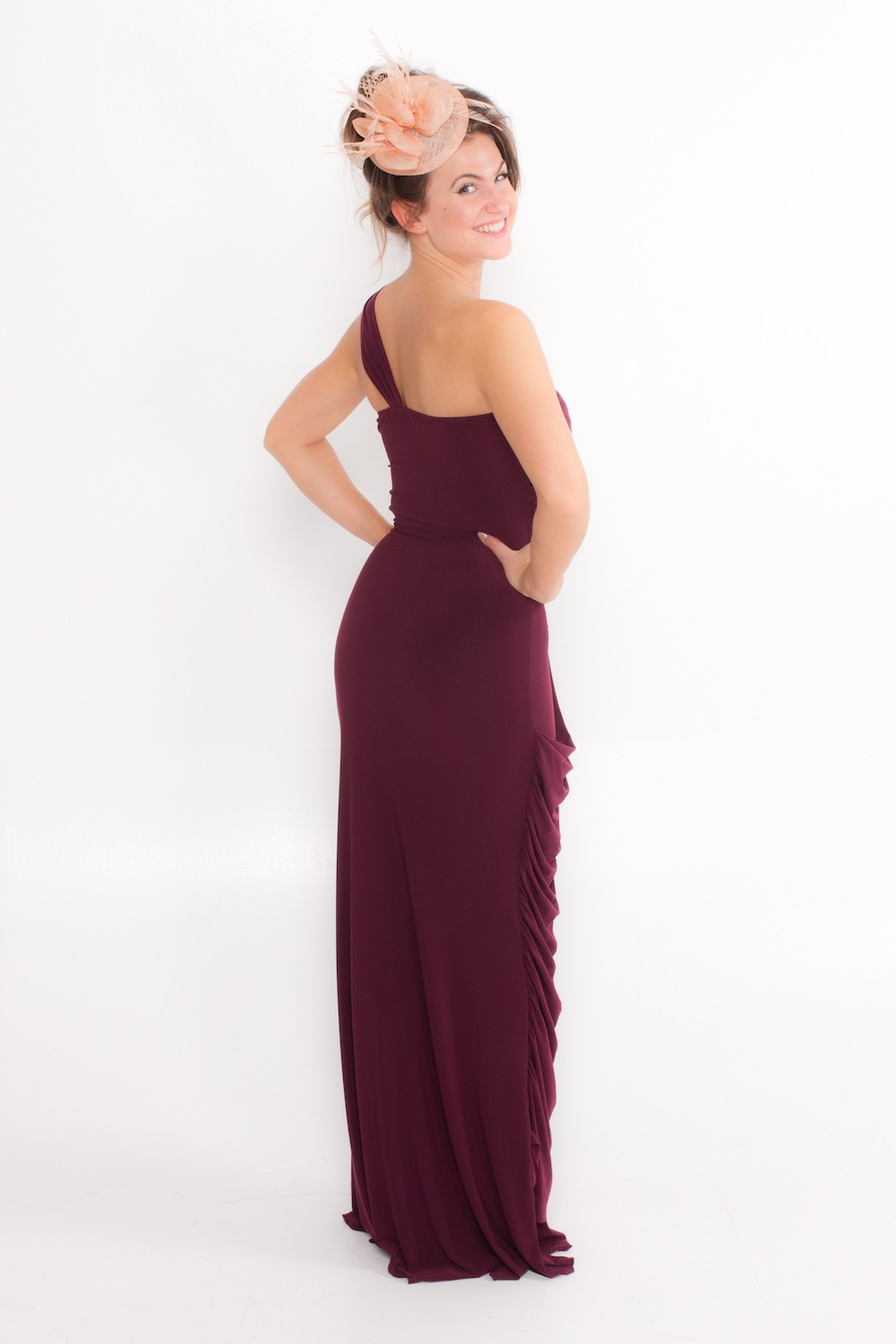 Dress L175 Plum Rear
