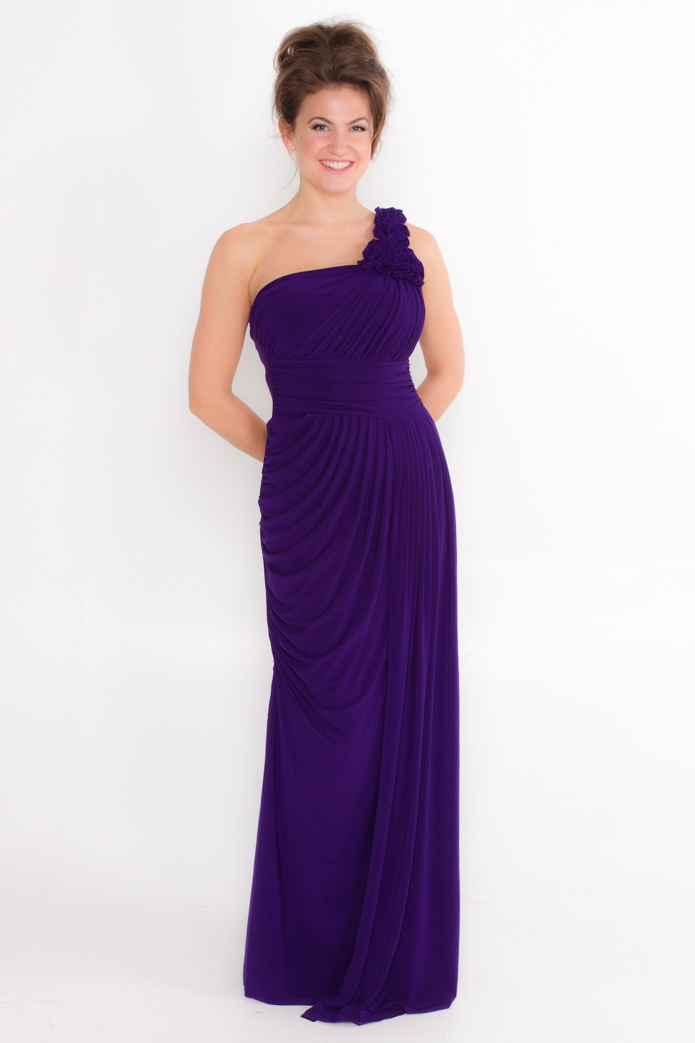 Dress L175 Purple Front