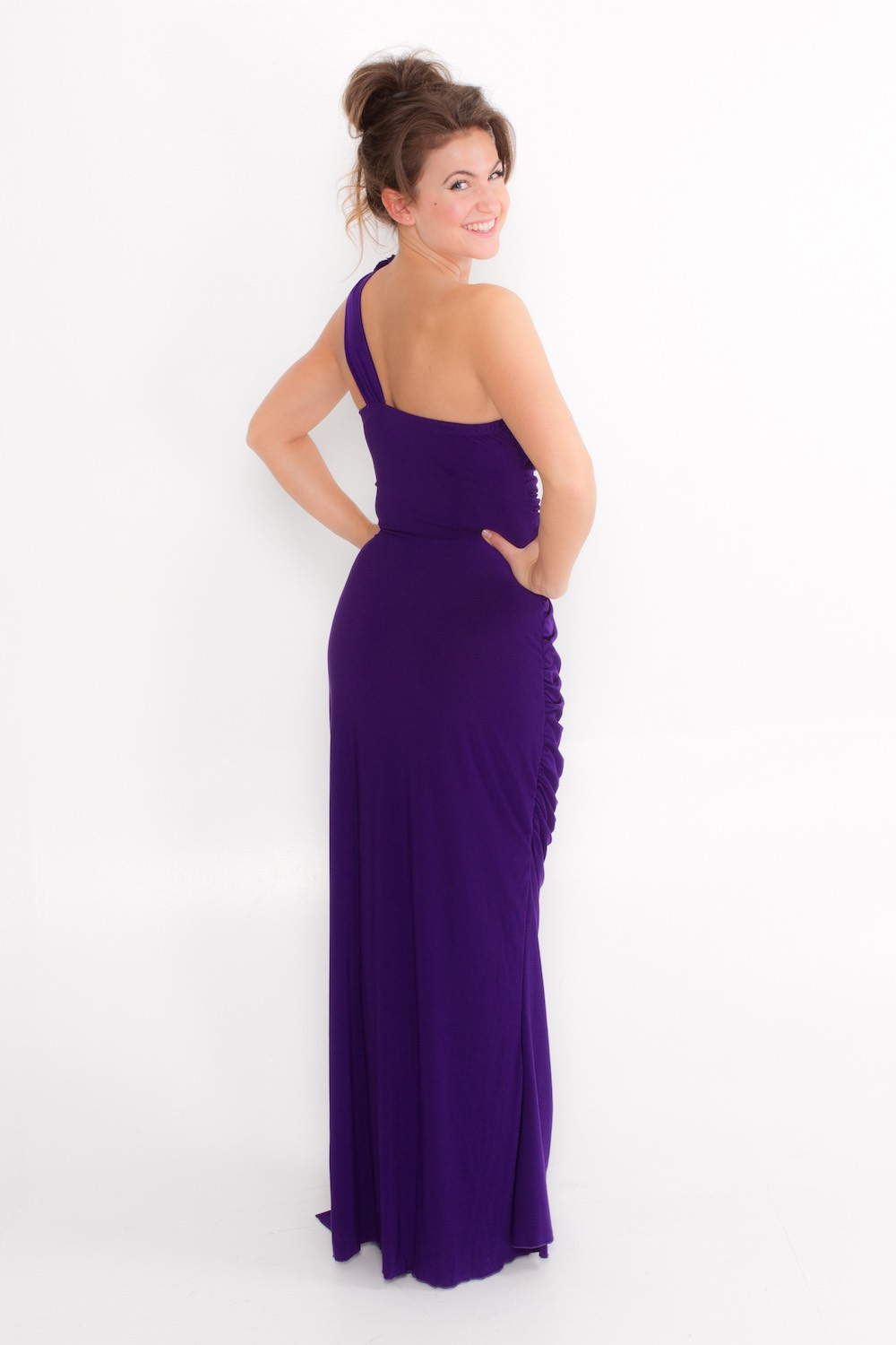 Dress L175 Purple Rear