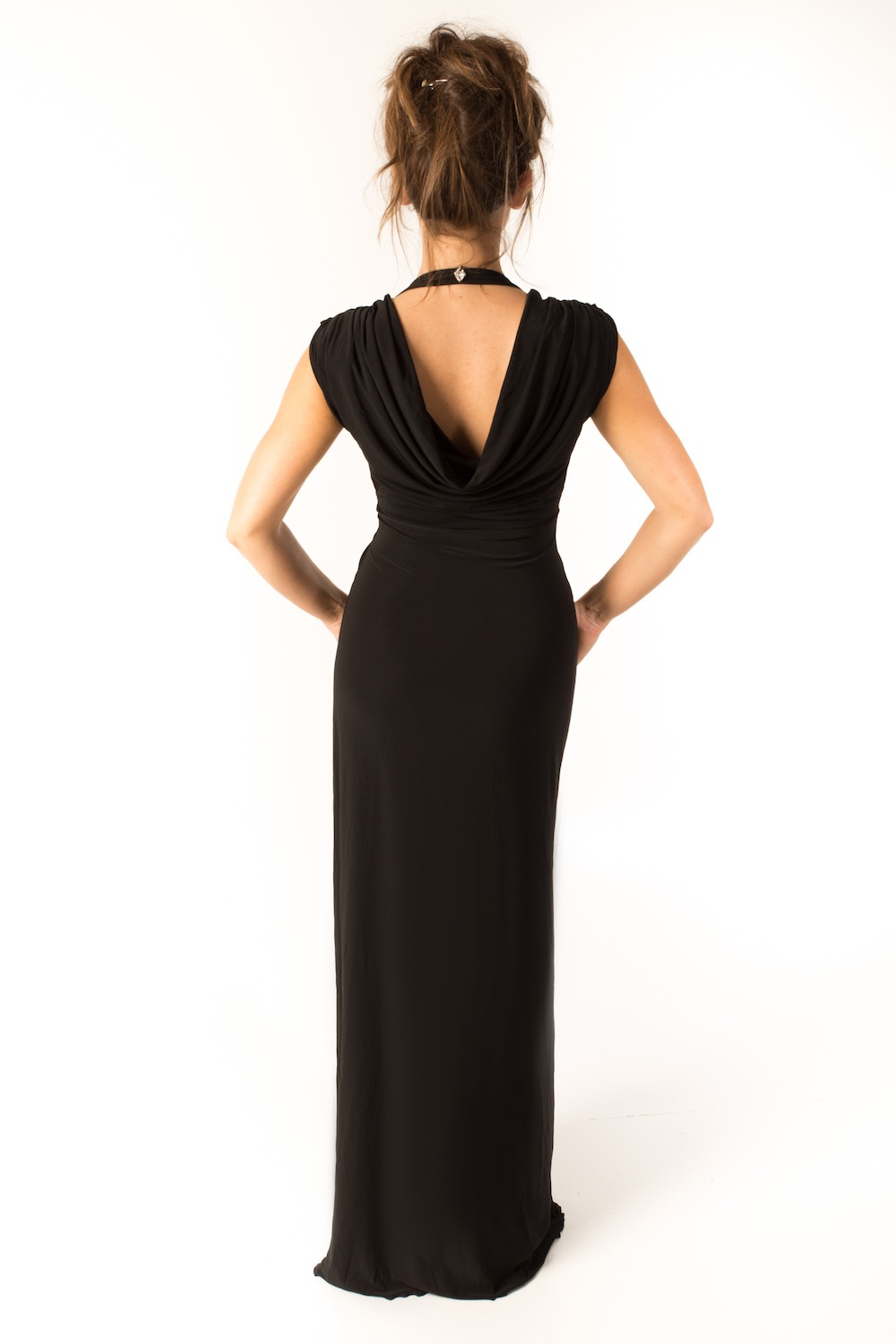 Dress L178A Black Rear