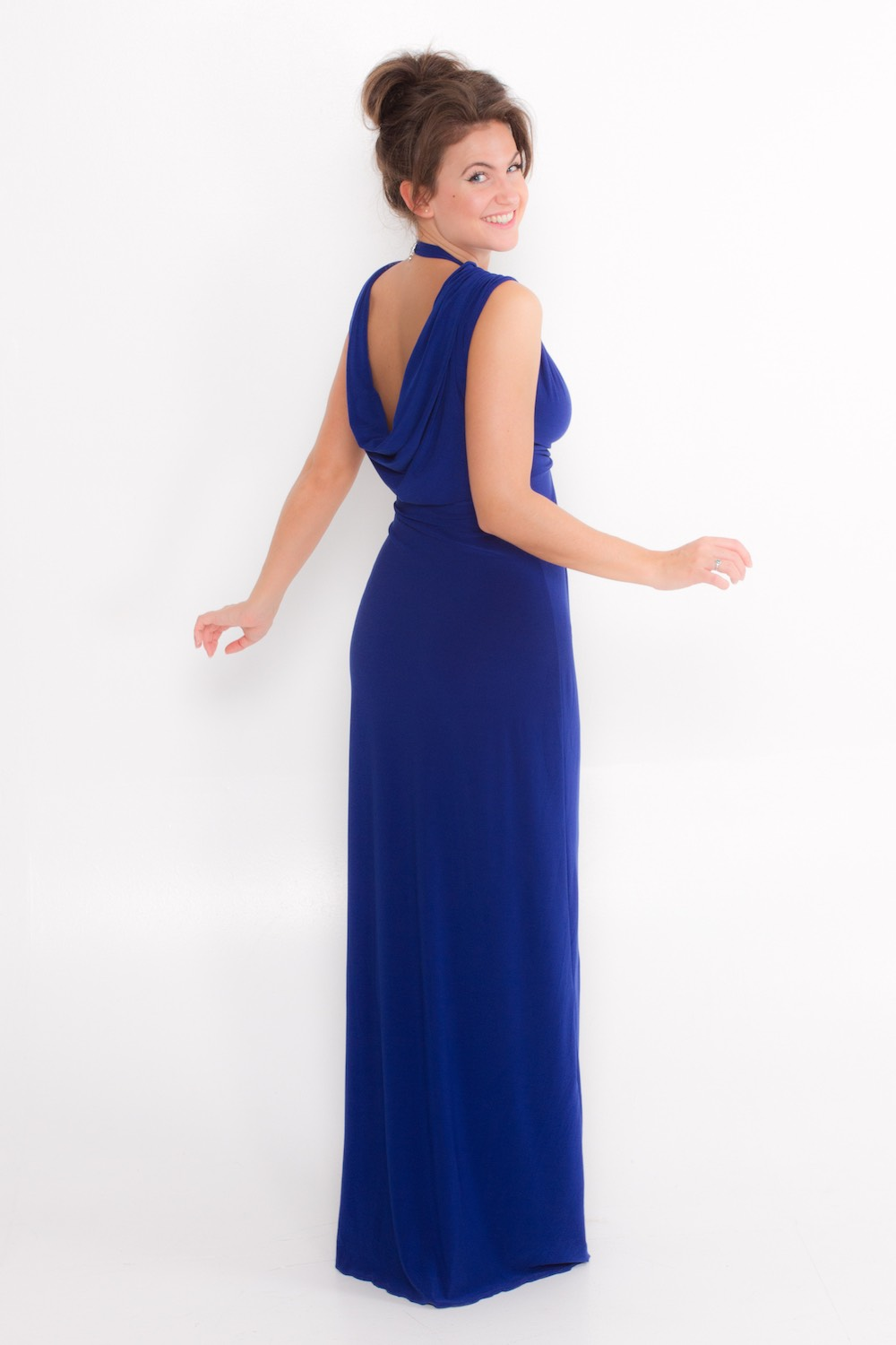 Dress L178A Blue Rear