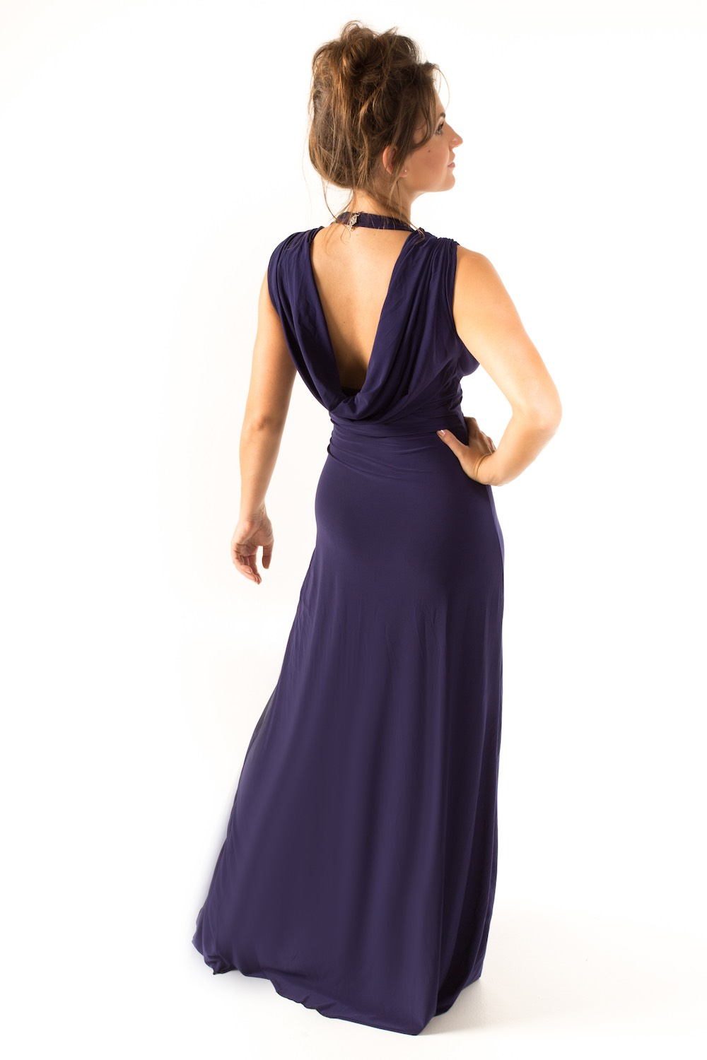 Dress L178A Navy Rear