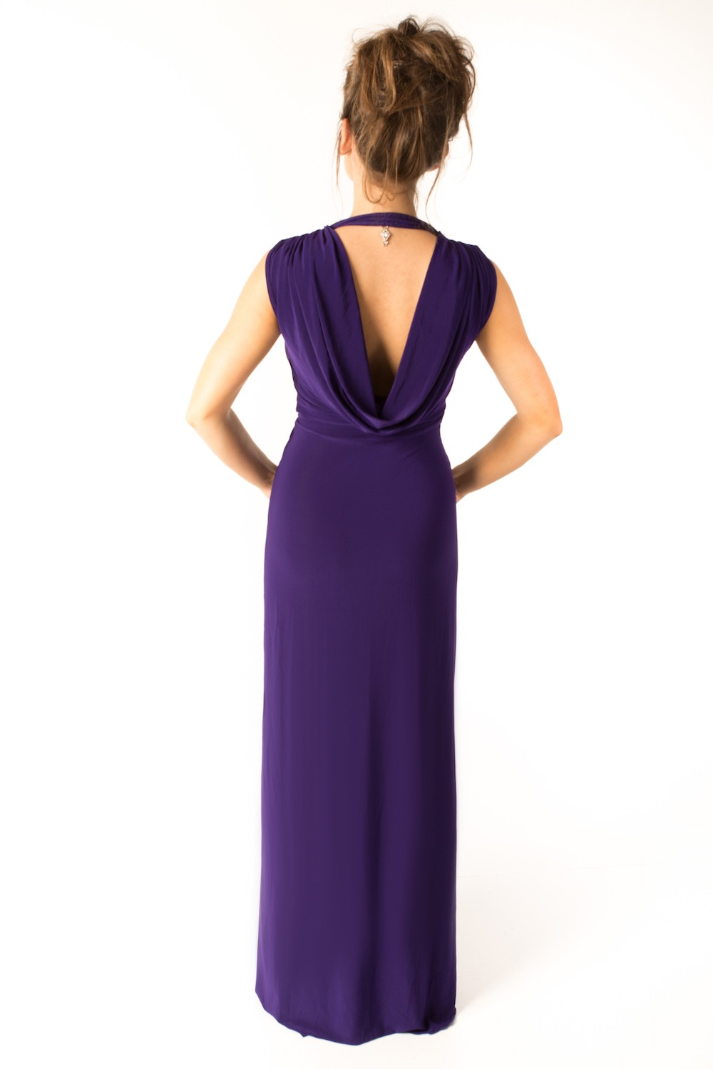 Dress L178A Purple Rear
