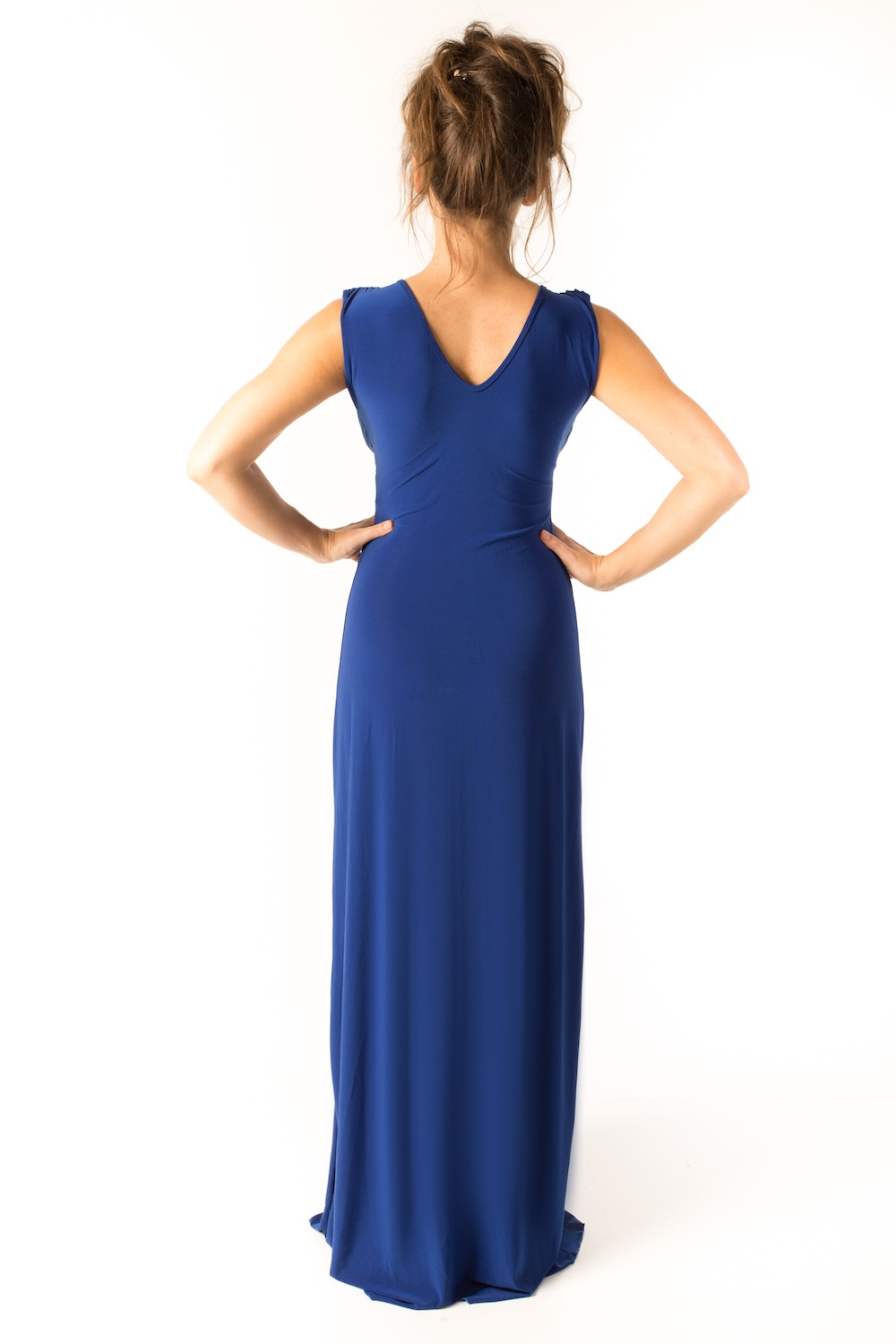 Dress L178B Blue Rear
