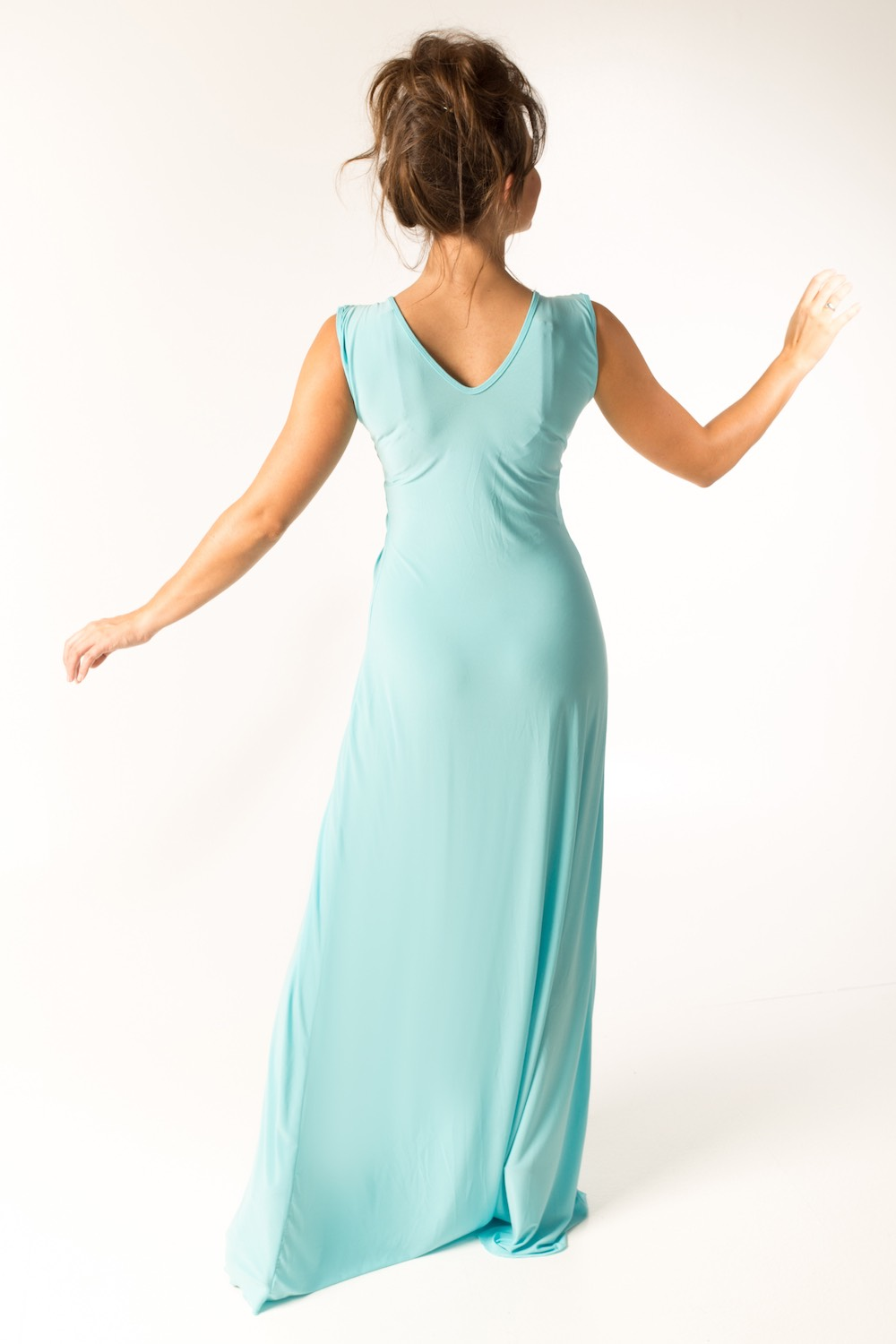 Dress L178B Light Blue Rear