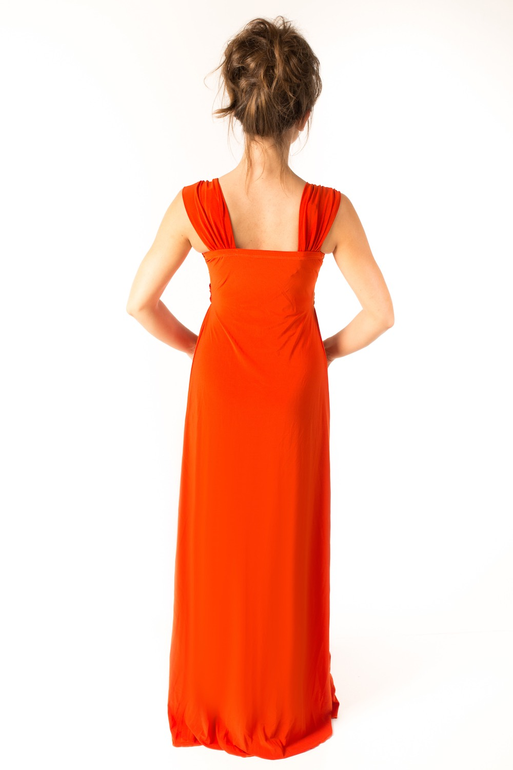 Dress L203 Orange Rear