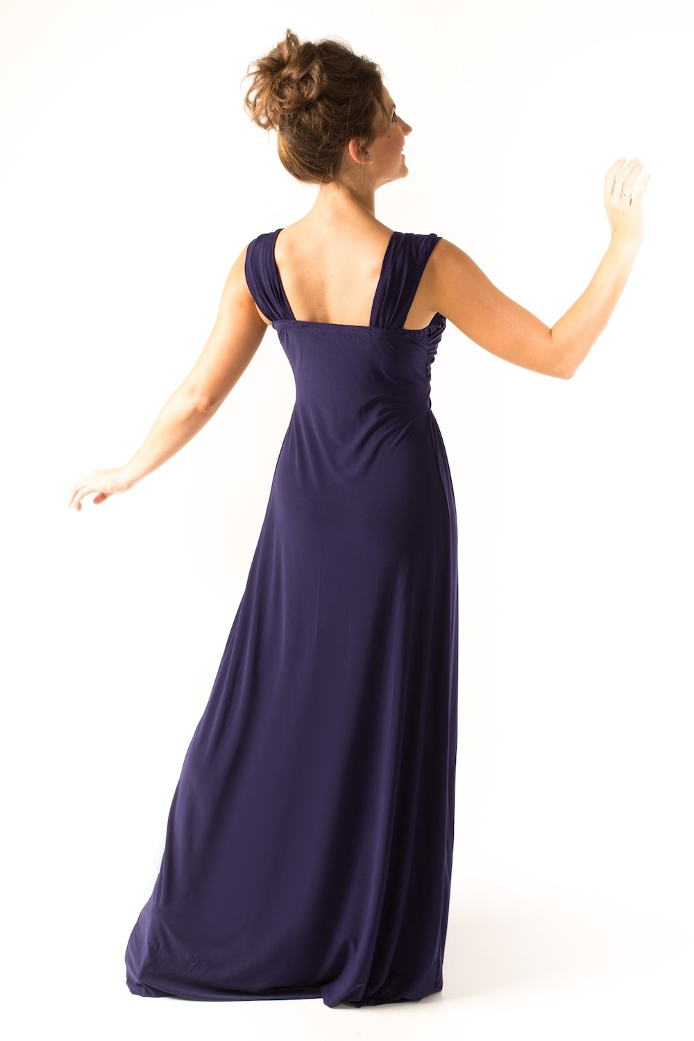 Dress L203 Plum Rear