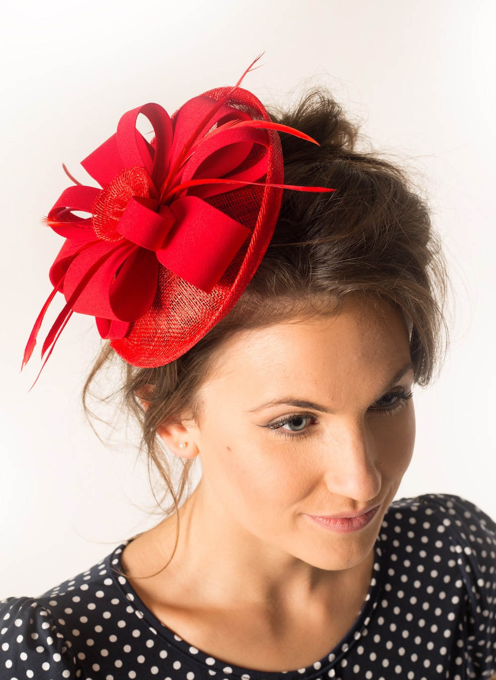 Fascinator 24 Red