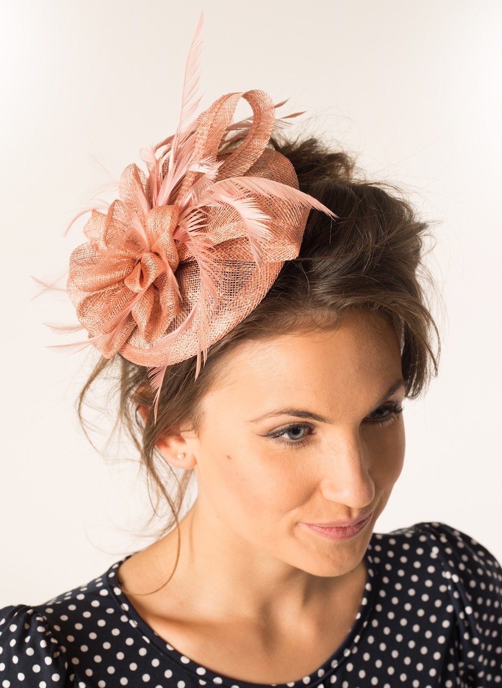 Fascinator 25 Dusty Pink