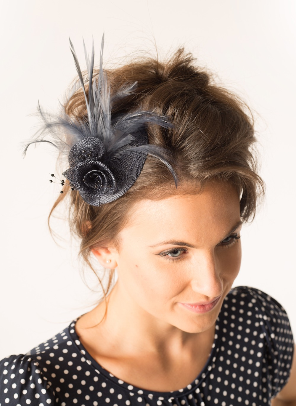 Fascinator 34 Dark Grey